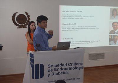 """Dra. Amanda Ladrón de Guevara y Dr. Rafael Ríos presentando el """"Curso Internacional de Patología Gonadal: Impacto en la salud femenina y masculina a través de la vida"""""""