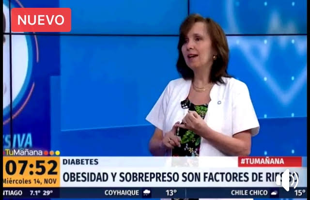 Destacada participación de la Dra. Carmen Gloria Aylwin en entrevista acerca de la Diabetes en Canal 24 Horas