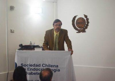 Dr. Pedro Pineda, Presidente de la Sociedad Chilena de Endocrinología y Diabetes.