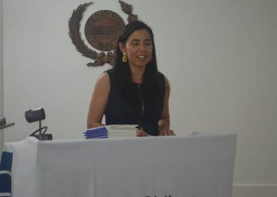 Dra. María Isabel Hernández, Secretaria de la Directiva de SOCHED.