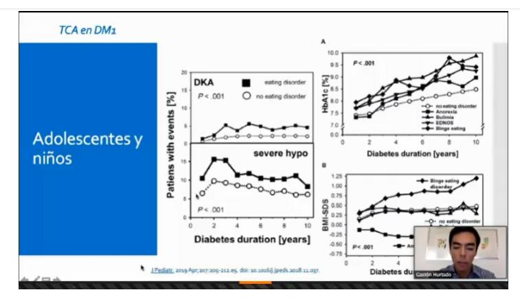 Dos interesantes presentaciones  asociadas a Diabetes  se desarrollaron en la reunión clínica de mayo