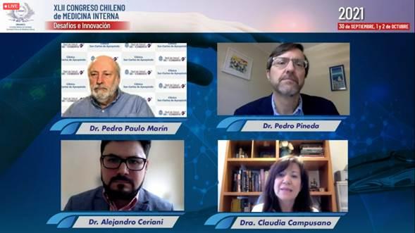 Destacada participación de miembros SOCHED en el XLII Congreso Chileno de Medicina Interna